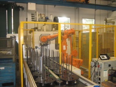 N.1 drilling center OMZ with anthropomorphic robot abb and stock