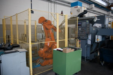 N.2 Lathe CNC Okuma LB.300 with anthropomorphic robot (ABB e FANUC) and stock